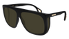 GUCCI GG0467S RECTANGULAR / SQUARE Sunglasses For Men  GG0467S-001 BLACK BLACK / GREEN SHINY 62-12-140