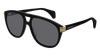 GUCCI GG0525S ROUND / OVAL Sunglasses For Men  GG0525S-002 BLACK BLACK / GREY SHINY 60-18-145