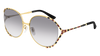 GUCCI GG0595S ROUND / OVAL Sunglasses For Women  GG0595S-002 GOLD GOLD / GREY GOLD 59-17-135
