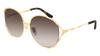 GUCCI GG0595S ROUND / OVAL Sunglasses For Women  GG0595S-004 GOLD GOLD / BROWN GOLD 59-17-135