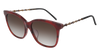 GUCCI GG0655SA RECTANGULAR / SQUARE Sunglasses For Women  GG0655SA-002 HAVANA GOLD / BROWN RED 56-17-150