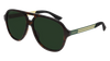 GUCCI GG0688S AVIATOR Sunglasses For Men  GG0688S-003 HAVANA GREEN / GREEN DARK 59-14-145