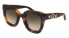 GUCCI GG0208S ROUND / OVAL Sunglasses For Women  GG0208S-003 HAVANA HAVANA / BROWN SHINY 49-28-140