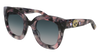 GUCCI GG0208S ROUND / OVAL Sunglasses For Women  GG0208S-004 HAVANA HAVANA / GREY PINK 49-28-140