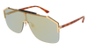 GUCCI GG0291S MASK Sunglasses For Men  GG0291S-005 GOLD HAVANA / BRONZE HAVANA 99-0-140