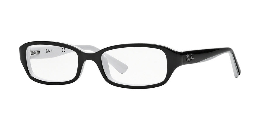 Ray-Ban Junior Vista RY1529 Eyeglasses 3579-TOP BLACK ON WHITE