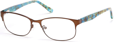 Bongo Eyeglasses BG0158 049-049 - Matte Dark Brown