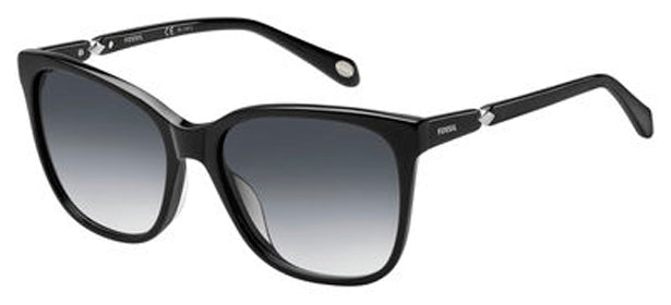 Fossil 2047/S Sunglasses 029A-SHINY BLACK