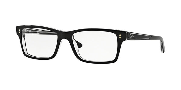Ray-Ban Optical RX5225 Eyeglasses 2034-TOP BLACK ON TRANSPARENT