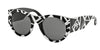 Ralph Lauren RL8124 Sunglasses 548387-WHITE GREEK ON BLACK