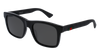 GUCCI GG0008S RECTANGULAR / SQUARE Sunglasses For Men  GG0008S-002 BLACK BLACK / GREY SHINY 53-20-145