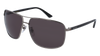 GUCCI GG0065SK RECTANGULAR / SQUARE Sunglasses For Men  GG0065SK-001 RUTHENIUM BLACK / GREY SHINY 66-14-135