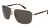 GUCCI GG0065SK RECTANGULAR / SQUARE Sunglasses For Men  GG0065SK-004 GOLD HAVANA / GREEN SHINY 66-14-135