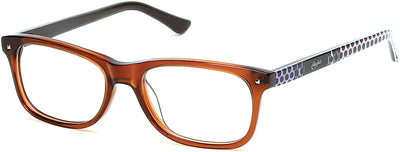 Candies Geometric CA0500 Eyeglasses 047-047 - Light Brown/other