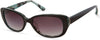 Candies CA1036 Oval Sunglasses 01B-01B - Shiny Black  / Gradient Smoke