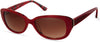 Candies CA1036 Oval Sunglasses 66F-66F - Shiny Red / Gradient Brown