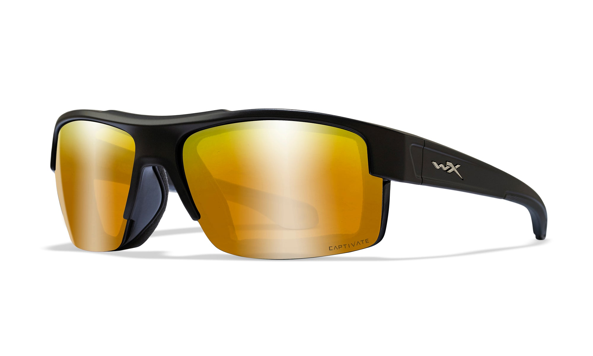 WILEY X WX Compass Sunglasses  Matte Black 67-16-120