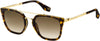 MARC JACOBS Marc 270/S Square Sunglasses 02IK-Havana Gold