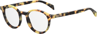 Moschino Mos 502 Oval Modified Eyeglasses 0SCL-Yellow Havana (Back Order 2 weeks)
