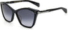 Rag & Bone Rag & Bone 1045/G/S Cat Eye/butterfly Sunglasses 06FQ-06FQ  Bk Mother Of Pearl Dark Gray (9O Dark Gray Gradient)