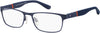 TOMMY HILFIGER Th 1284 Rectangular Eyeglasses 0BQZ-Matte Blue