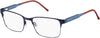 Tommy Hilfiger TH 1396 Rectangular Eyeglasses 0R1W-0R1W  Matte Blue Blush (00 Demo Lens)
