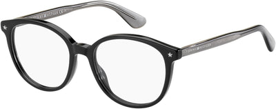 TOMMY HILFIGER Th 1552 Oval Modified Eyeglasses 0807-Black
