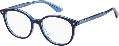 TOMMY HILFIGER Th 1552 Oval Modified Eyeglasses 0ZX9-Blue Azure
