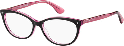TOMMY HILFIGER Th 1553 Cat Eye/Butterfly Eyeglasses 0RY8-Violet Lilac