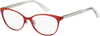 Tommy Hilfiger TH 1554 Cat Eye/Butterfly Eyeglasses 0C9A-0C9A  Red (00 Demo Lens)
