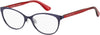 Tommy Hilfiger TH 1554 Cat Eye/Butterfly Eyeglasses 0PJP-0PJP  Blue (00 Demo Lens)