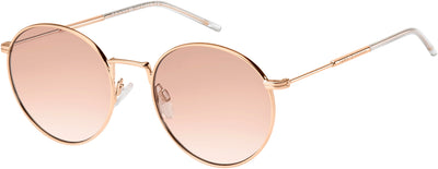 Tommy Hilfiger TH 1586/S Oval Modified Sunglasses 0DDB-0DDB  Gold Copper (9R Pink Gradient)