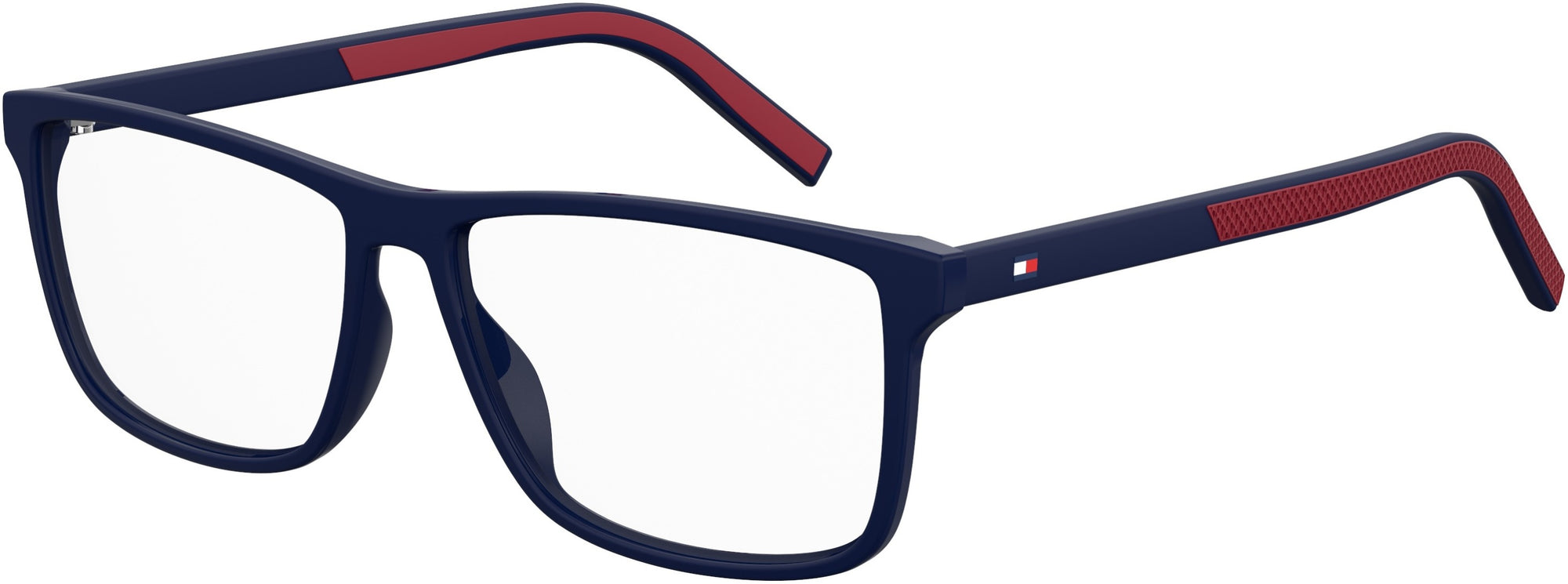 Tommy Hilfiger TH 1696 Rectangular Sunglasses 0WIR-0WIR  Matte Blue Red (00 Demo Lens)