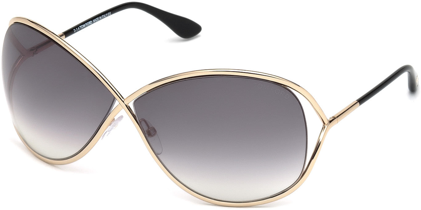 03be6eae1d Tom Ford Geometric FT0130 Miranda Sunglasses 28B-28B - Shiny Rose Gold    Gradient Smoke