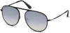 Tom Ford FT0621 Jason-02 Pilot Sunglasses 01C-01C - Shiny Black / Smoke Mirror Lenses