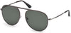 Tom Ford FT0621 Jason-02 Pilot Sunglasses 08R-08R - Shiny Gunmetal / Green Polarized Lenses