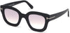 Tom Ford FT0659 Pia Geometric Sunglasses 01Z-01Z - Shiny Black / Gradient Pearl Red Wine Lenses