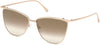 Tom Ford FT0684 Veronica Butterfly Sunglasses 28G-28G - Shiny Rose Gold / Shiny