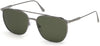 Tom Ford FT0692 Kip Geometric Sunglasses 12N-12N - Shiny Dark Ruthenium/ Green Smoke Lenses