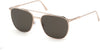 Tom Ford FT0692 Kip Geometric Sunglasses 28A-28A - Shiny Rose Gold/ Smoke Lenses