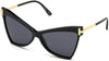 Tom Ford FT0767 Butterfly Sunglasses 01A-01A - Shiny Black W. Shiny Endura Gold Temples/ Smoke Lenses