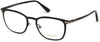 Tom Ford FT5464 Geometric Eyeglasses 001-001 - Shiny Black - Back Order until