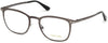 Tom Ford FT5464 Geometric Eyeglasses 012-012 - Shiny Dark Ruthenium