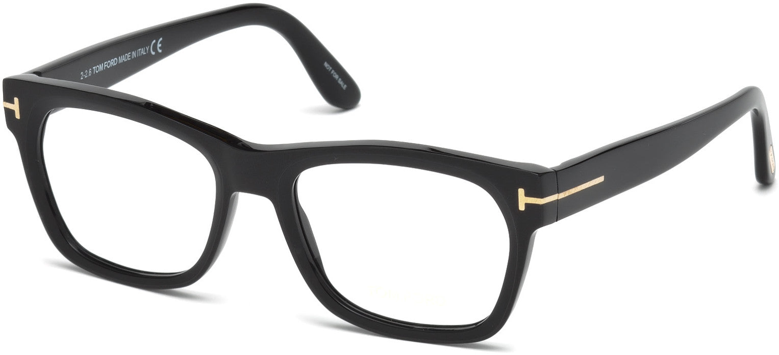 Tom Ford FT5468 Geometric  Eyeglasses 002-002 - Matte Black