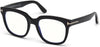 Tom Ford FT5537-B Geometric Eyeglasses 001-001 - Shiny Black/ Blue Block Lenses