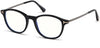 Tom Ford FT5553-B Round  Eyeglasses 001-001 - Shiny Black