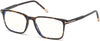 "Tom Ford FT5607-B Rectangular Eyeglasses 052-052 - Shiny Classic Dark Havana, Shiny Rose Gold ""t"" Logo/ Blue Block Lenses"