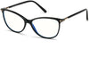 Tom Ford FT5616-B Square Eyeglasses 001-001 - Shiny Black W. Shiny Rose Gold Details/ Blue Block Lenses