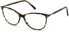 Tom Ford FT5616-B Square Eyeglasses 056-056 - Shiny Dark Havana W. Shiny Rose Gold Details/ Blue Block Lenses