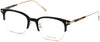 Tom Ford FT5645-D Eyeglasses 001-001 - Shiny Black W. Shiny Pale Gold Temples/ Blue Block Lenses